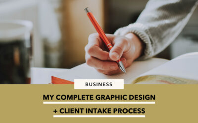 My complete graphic design process + client onboarding